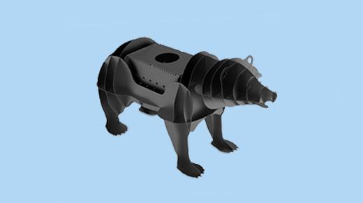 Чертежи для лазерной резки мангал медведь.